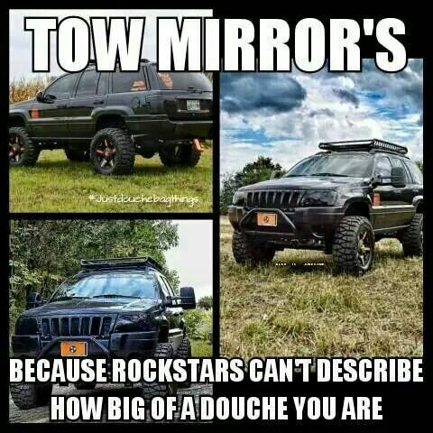 Gm Tow Mirrors On A Wk Jeepforumcom