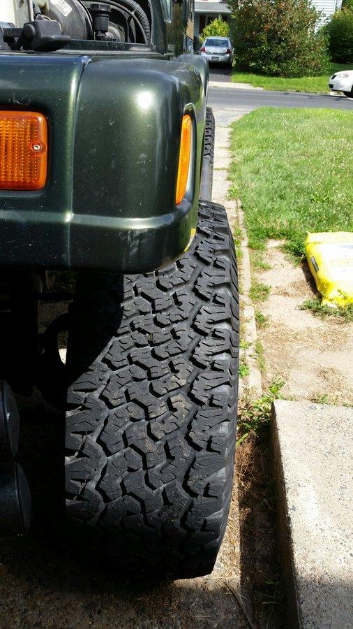Failed inspection: tires too wide - JeepForum com