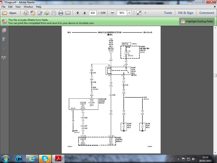 2 7 crd glow plug fuse blows jeepforum com rh jeepforum com jeep grand cherokee 2.7 crd wiring diagram jeep liberty 2.8 crd wiring diagram