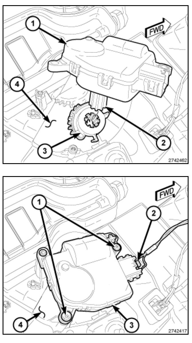 Blend door gears repair (no heat passenger or drivers side