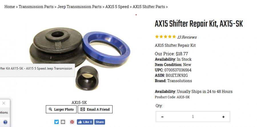 separating upper/lower halves of AX15 shifter - JeepForum com