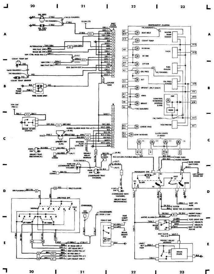 87 YJ gauge cluster wiring diagram - JeepForum.com Lj Jeep Instrument Cluster Wiring Diagram on