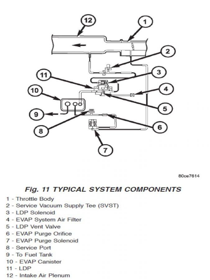 Open hose by EVAP canister: P0455 - JeepForum com