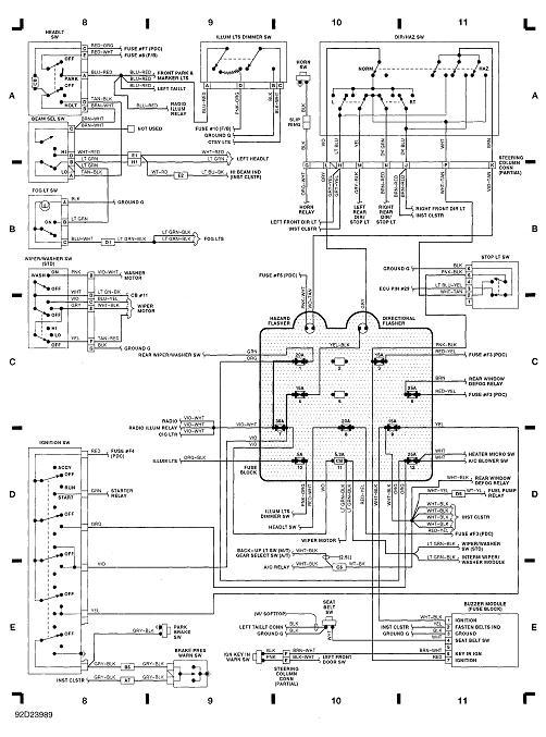 1990 jeep wrangler fuse box diagram 1990 auto wiring diagram 1990 jeep yj wiring 1990 image about wiring diagram on 1990 jeep wrangler fuse box