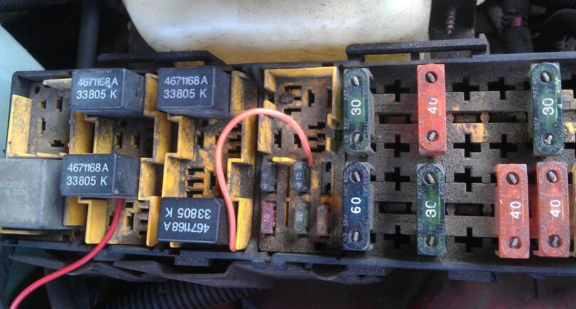 Jumper wires in underhood fuse box - JeepForum.com