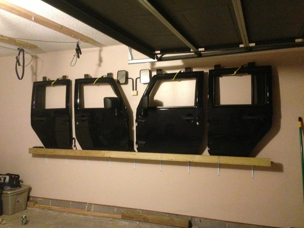 Diy Jk Door Hanger Shelf For Doors With Rainguards