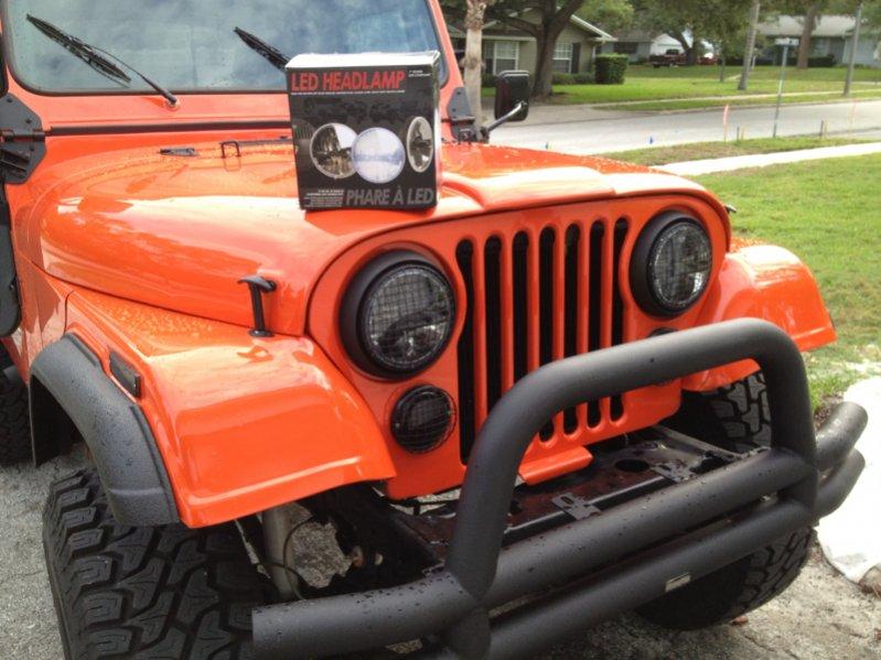 Jeep Wrangler Wheels >> 79 CJ7 LED headlights?? - JeepForum.com