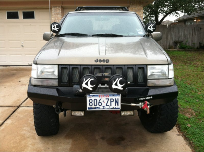 JCR Offroad DIY-ZJ-F-WN DIY Front Winch Bumper for 93-98