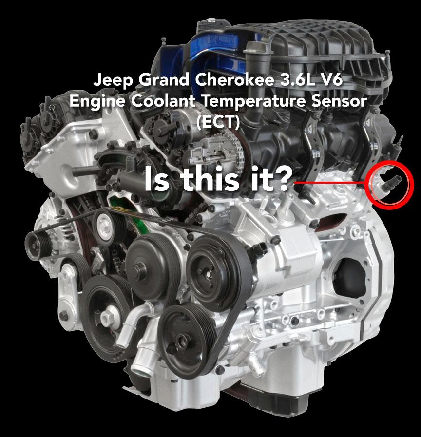 3.6L V6 Engine Coolant Temperature Sensor Location - JeepForum.com Jeep Engine Coolant on