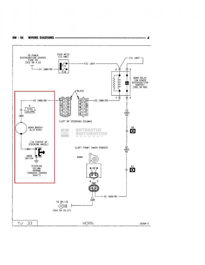 Yj Steering Column Wiring Diagram