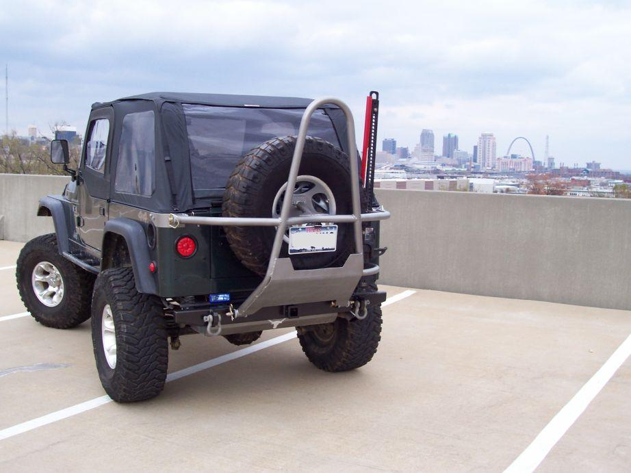 Jeep rear stinger tire carrier #3