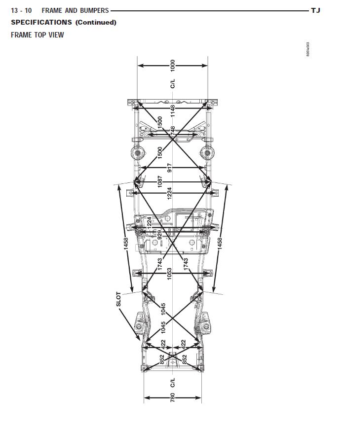 need measurements for frame repair