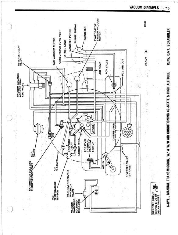 33 Jeep 258 Vacuum Diagram