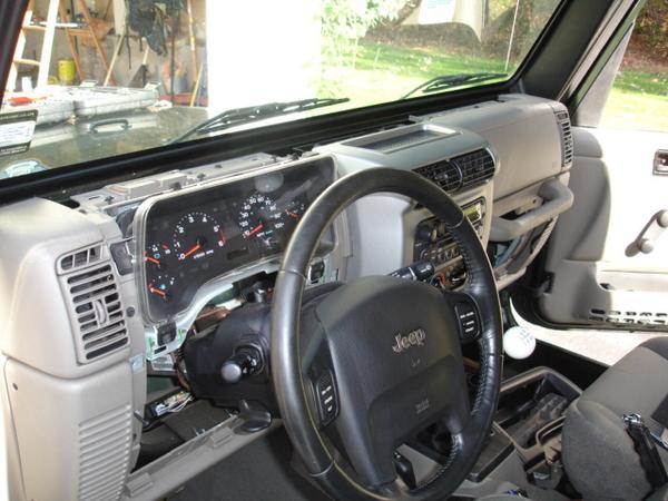 yj radio wiring 2004 tj dash disassembly  jeepforum com  2004 tj dash disassembly  jeepforum com