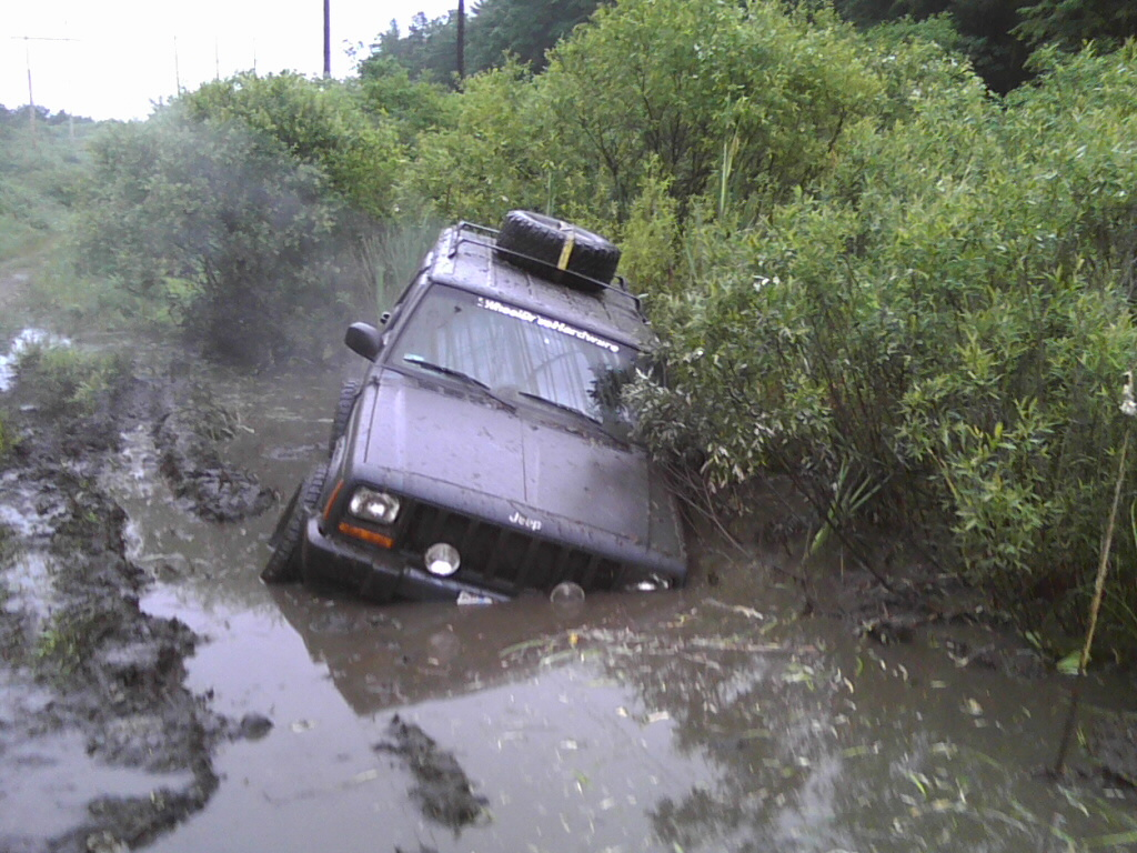 cherokee stuck water