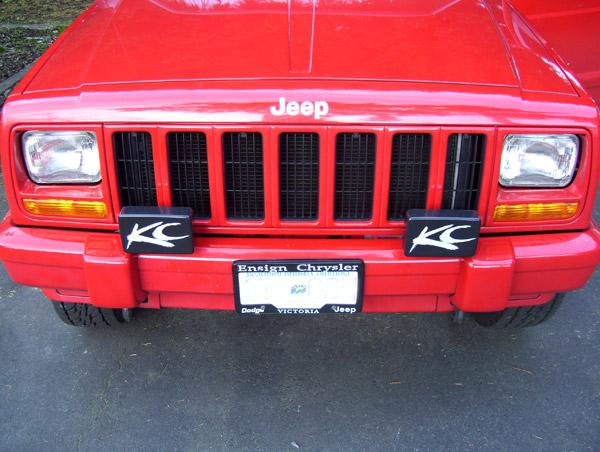 fog lights on stock xj bumper jeepforum com Jeep Wrangler Fog Lights